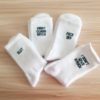 New design Small Mqq Hip Hop Socks Custom Street Fashion Socks With High Quality