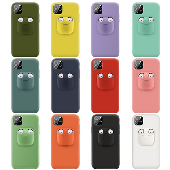 2020 New Product Silicone Case for iPhone 11 Pro with for Airpods Holder Functional Mobile Phone Case