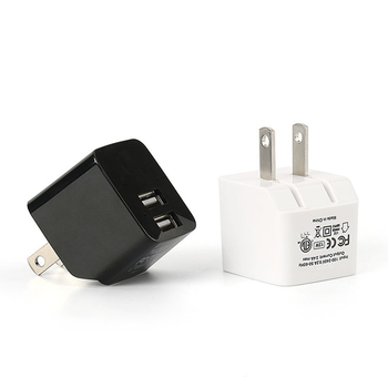 MIQ Factory Hot Sell 5V2.1A 2-Port USB Charger Portable Dual USB US Plug Wall Charger For iPhone For Android