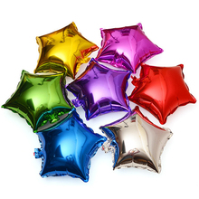 Wholesale 18 inch pentagram foil balloon for party decoration small stars helium balloons