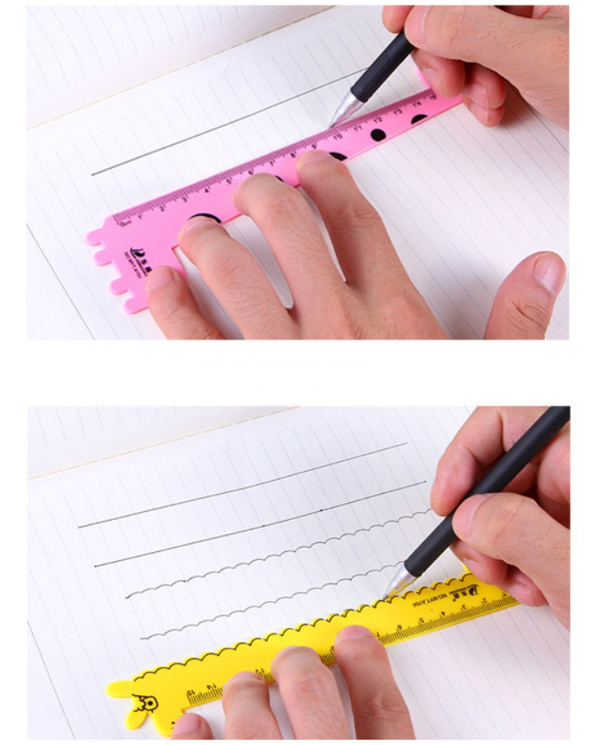 Factory manufacture colorful cartoon Printed promotional gift plastic ruler