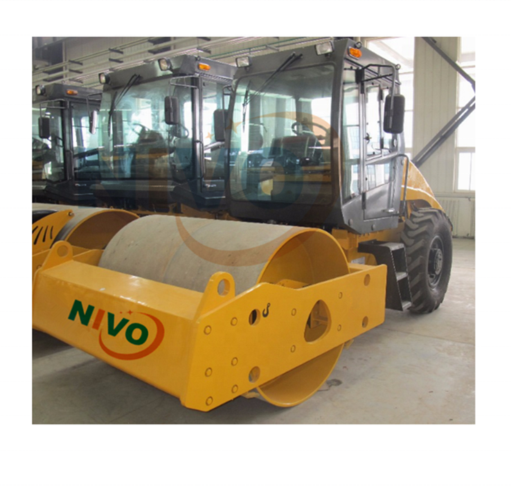 YNS100 10 TON Single drum vibratory road roller 80KW with padfoot hot sale roller compactor and parts for sale
