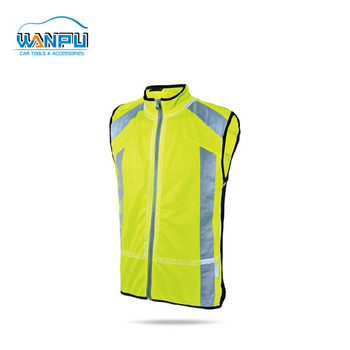 Wholesale 100% polyester police reflective Safety Jacket yellow warning Safety vest