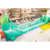 Amazing inteactive playground challenge game avalanche double lanes line zip inflatable slide