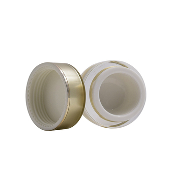 15g 30g 50g gold round plastic jar cosmetic container skin care cream acrylic plastic jar wholesale