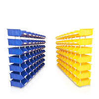 Industrial warehouse stack stackable plastic used parts picking storage boxes bins