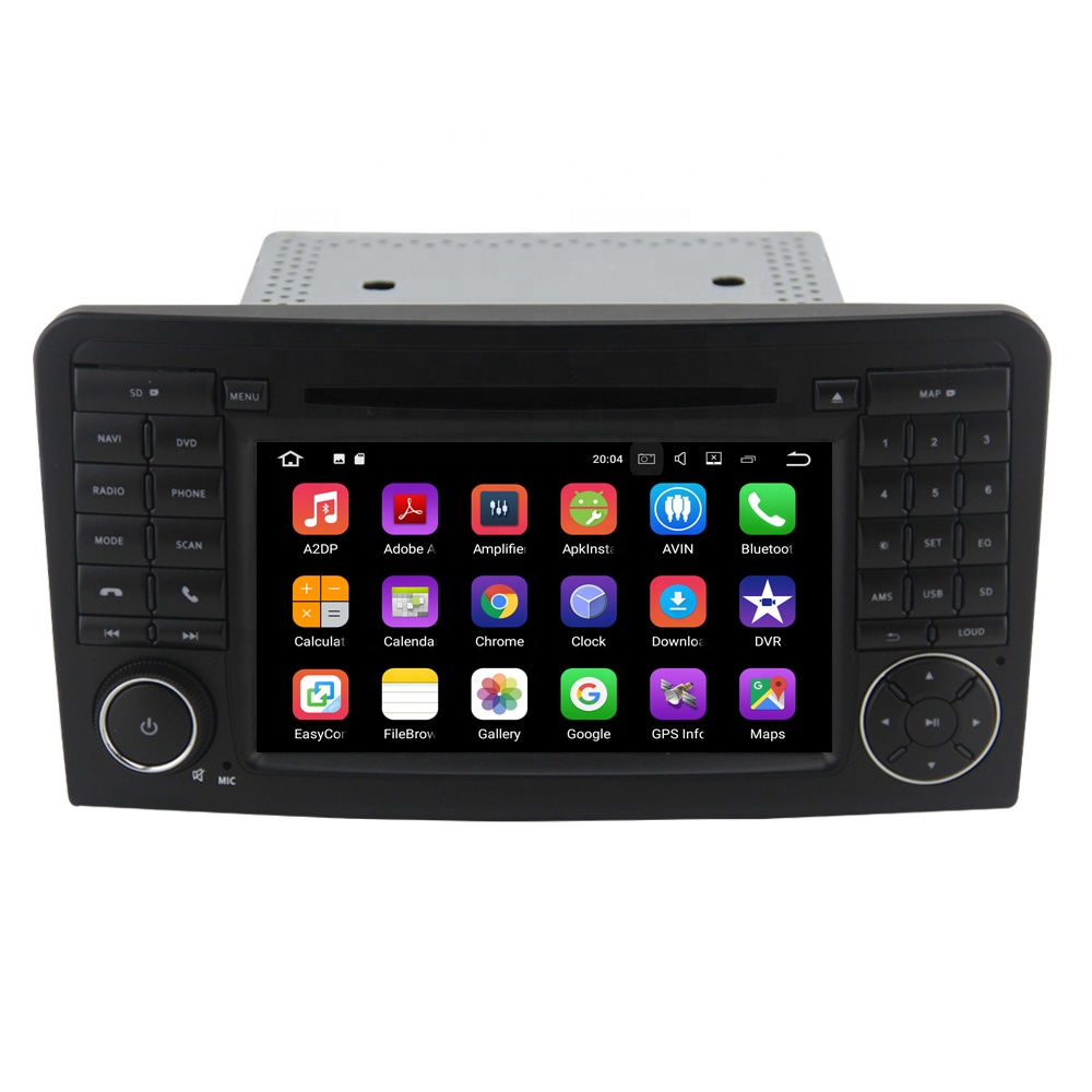 7inch <strong>Android</strong> 9.0 Car dvd player for BenZ ML CLASS <strong>W164</strong> ML350 GPS Quad core 32GB RAM Radio stereo multimedia GPS navigation BT