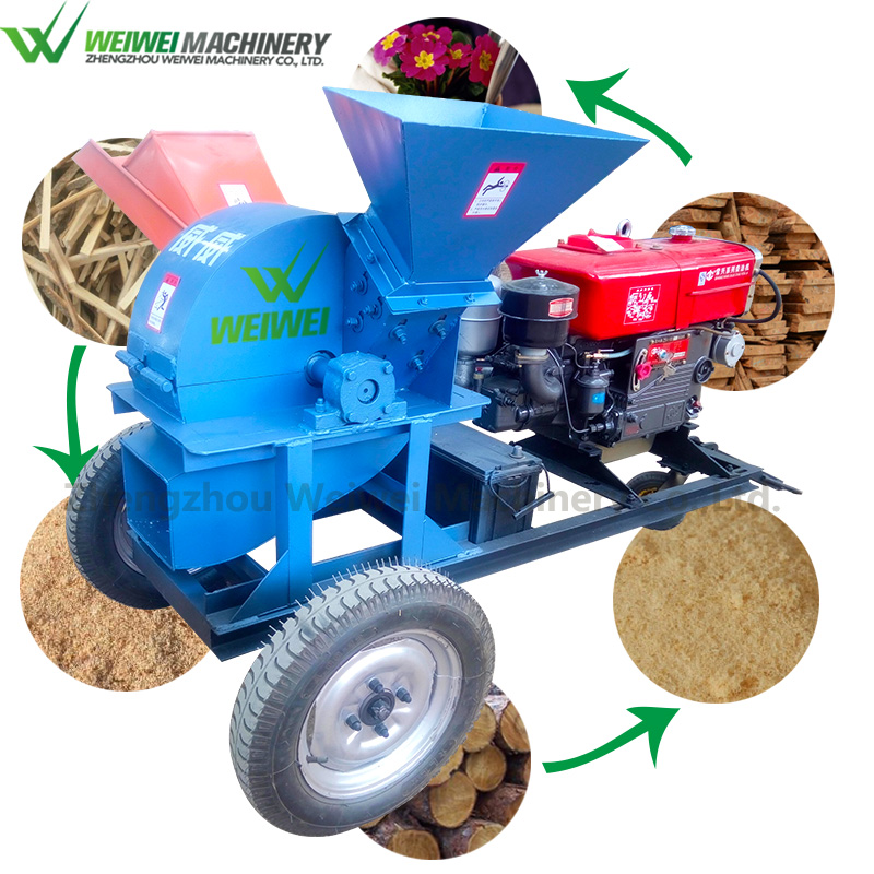 Weiwei wood crusher wood chipper with one year warranty period