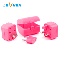 LEISHEN electrical travel plug double usb outlets travel adapter with universal smart socket with LOGO oem offered from factory