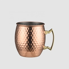 Factory Direct high quality 17oz <strong>stainless</strong> <strong>steel</strong> canada copperware drinking cup pure copper boot beer mugs with printing