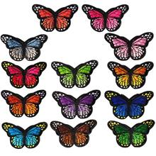 Popular 26 Pieces Butterfly Iron on Patches Embroidery Applique Patches for Clothes