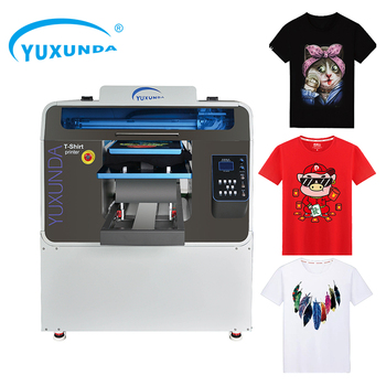 Sunthinks A3 A4 DTG printer direct to garment uv flatbed printer t-shirt printing machine