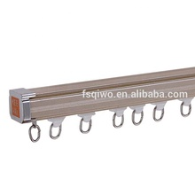 KEEWO European Extrusion gliders Aluminum End Caps curtain track belt Ceiling Mounted Curtain Track <strong>pvc</strong>