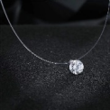 Zircon Crystal Pearl Pendant Choker Necklace Transparent Fishing Line 2019 Fashion Jewelry For Women