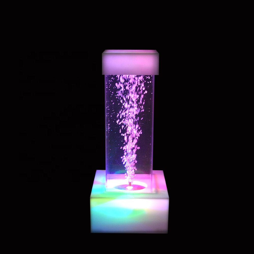 walkway wedding decoration aquarium water bubble fountain column decorative pillar <strong>lights</strong> for weddings
