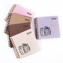 Hot 2019 selling amazon  linen photo album , spiral binding  wedding scrapbook  photo album