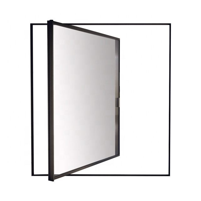 latest design Aluminum insulating glass front entrance pivot <strong>door</strong>