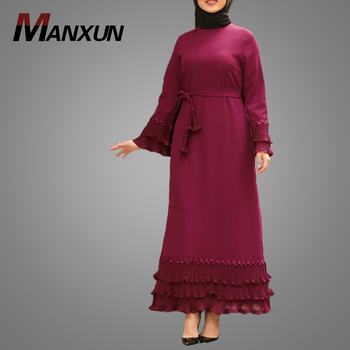 2019 Latest Abaya Designs Printing Muslim Abaya Dress Women dubai Abaya