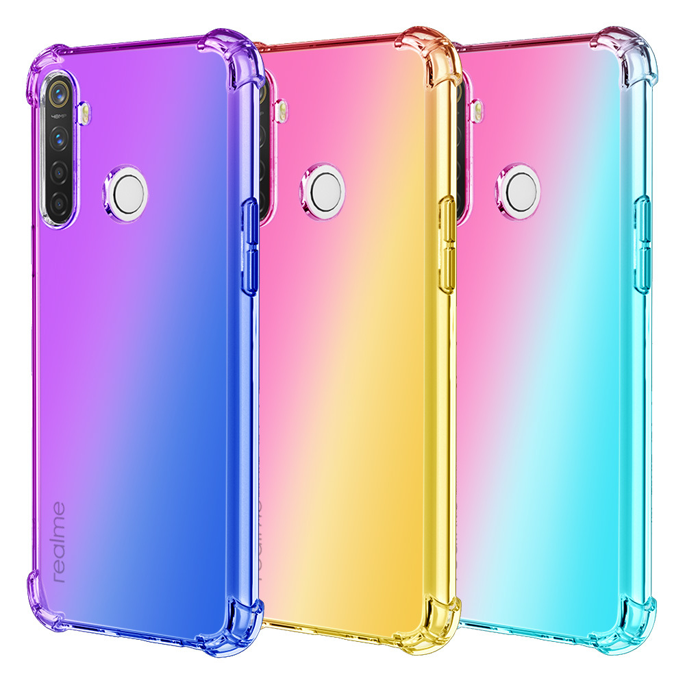 Gradient Color Tpu Covers Cell Phone <strong>Case</strong> For Oppo Realme 5 Back Covers