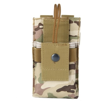 1000D Adjustable Outdoor Tactical Molle Radio Pouch Walkie Talkie Holder Waist Belt Bag Open Top Magazine Mag Pouch