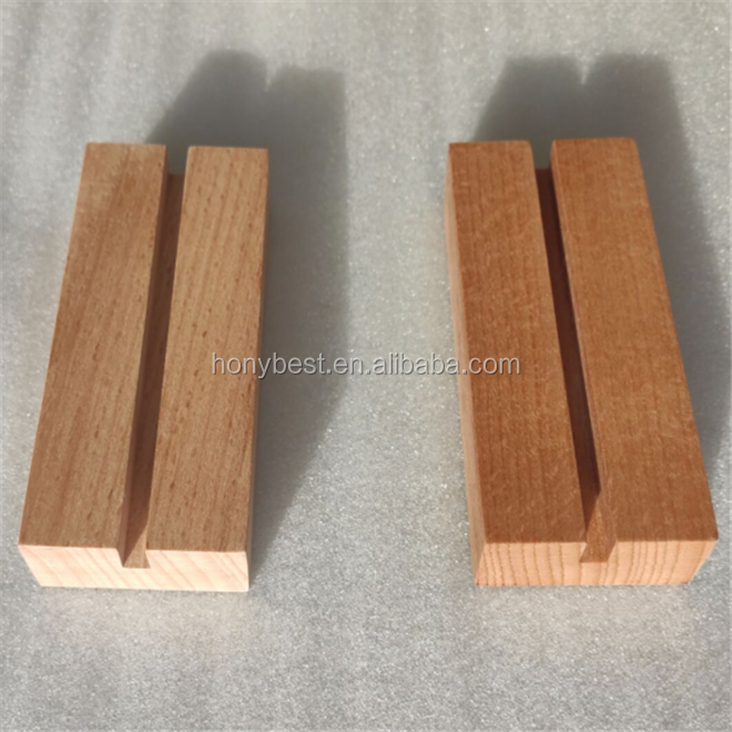 High Quality Wooden Stand Card Holder with Custom Slot