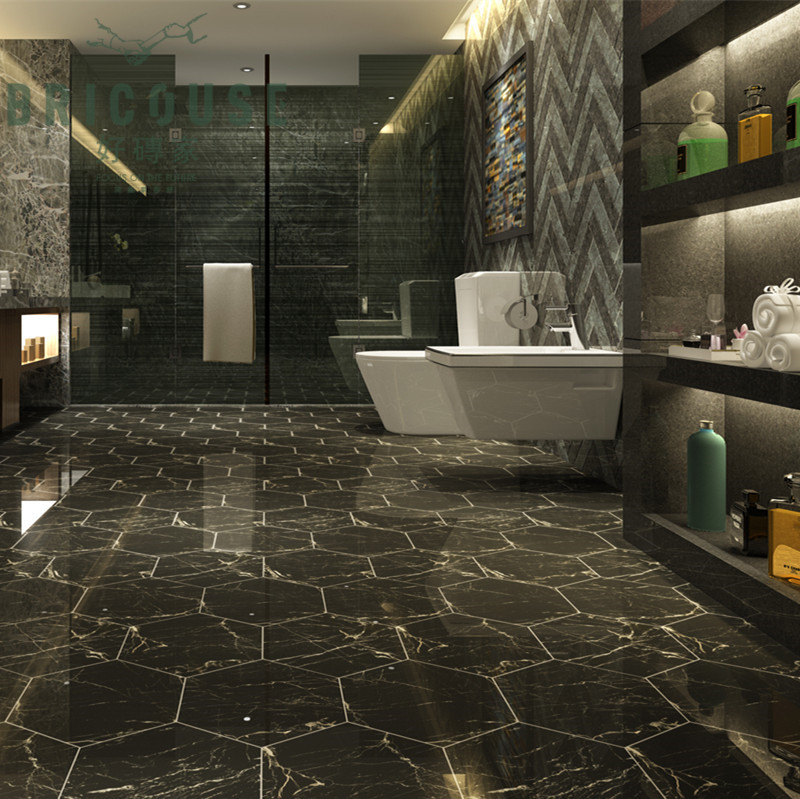 200 x 230 carrara porcelain floor tile hexagon <strong>ceramic</strong>