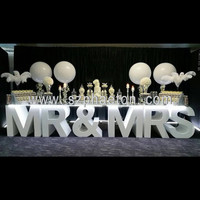 MR & MRS MARRY ME letter table for wedding and marriage proposal