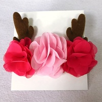 Customised girl fashion hair accessories women christmas party antler flower headband