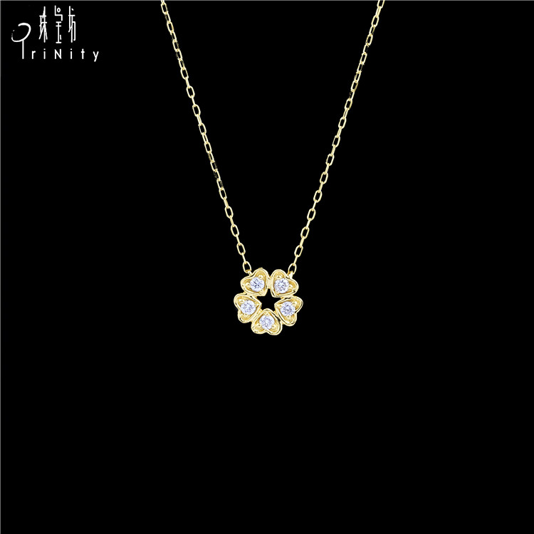 Best Sales Wholesale Fashion Jewelry 18K Pure Yellow Gold Necklace Chain For Women