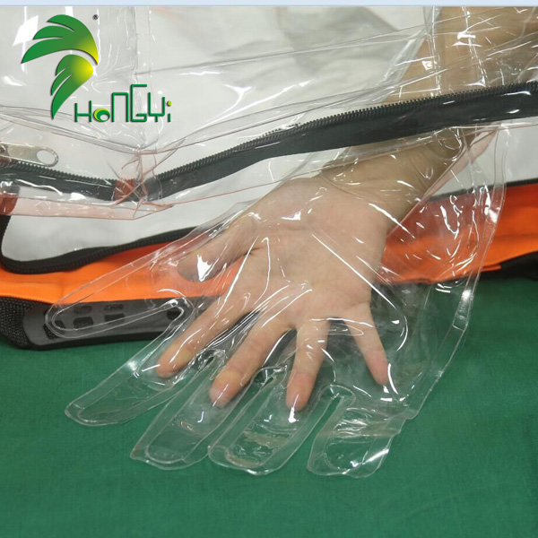 Clear Observable PVC Multipurpose Medical Air Bag Isolation Pocket