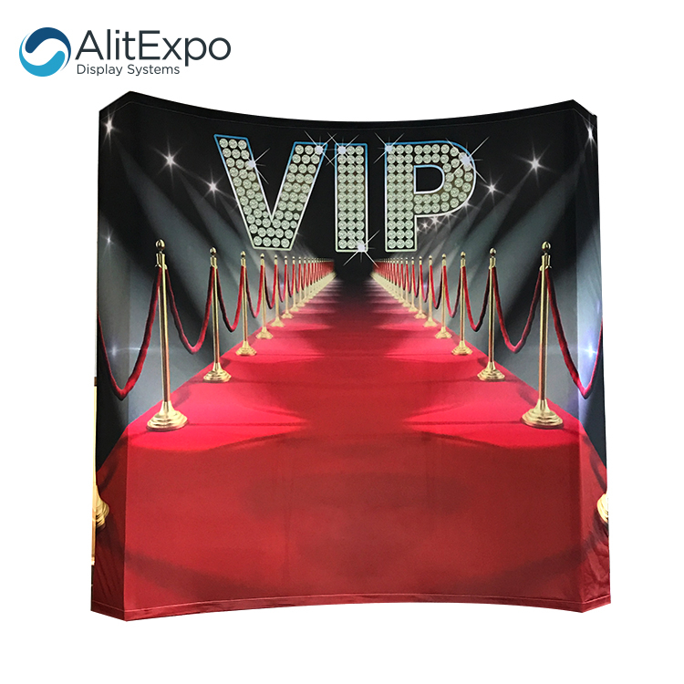 Customized printing tension fabric photo booth backdrop