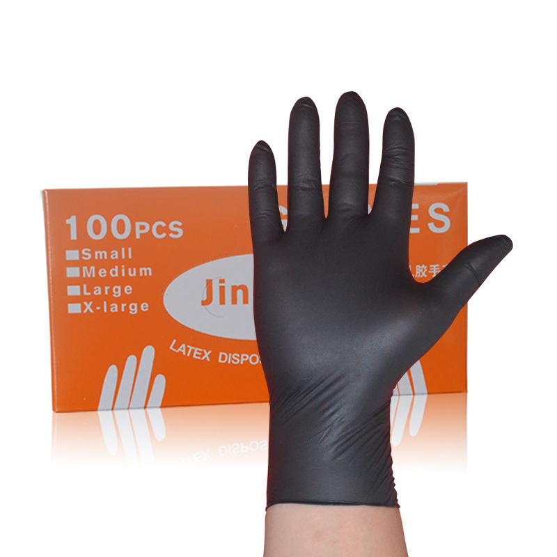 100pcs / set of disposable mechanical cleaning household cleaning gloves black nitrile gloves laboratory nail anti-static gloves