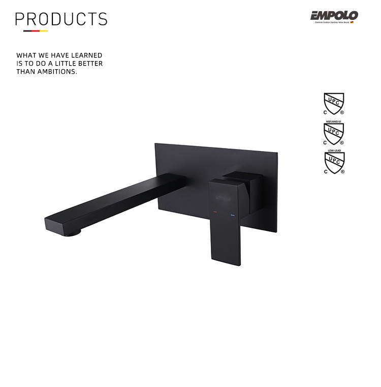 Top Selling Wall Mounted Bath Shower Mixer Taps Hot And Cold Black Faucets