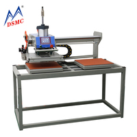Double station pneumatic hot stamping press machine for leather embossing