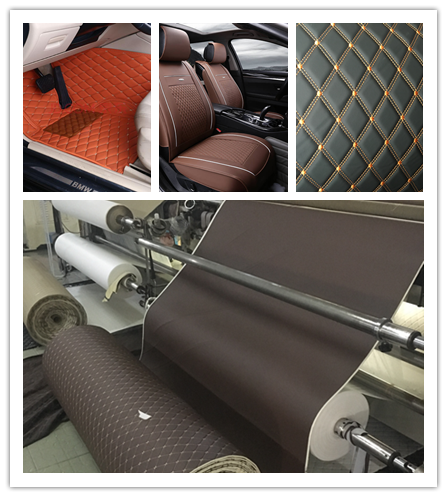 Artificial Quilted Faux Leather Fabric Car Seat Cover Material For Car Carpet