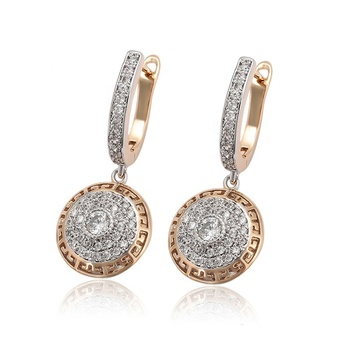 99371 Xuping Jewelry korean crystal dangl drop earring fashion, big drop earrings cz