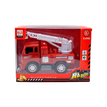 TT069429 2019 Hot selling 1:20 small inertial fire truck with crane with lighting and music