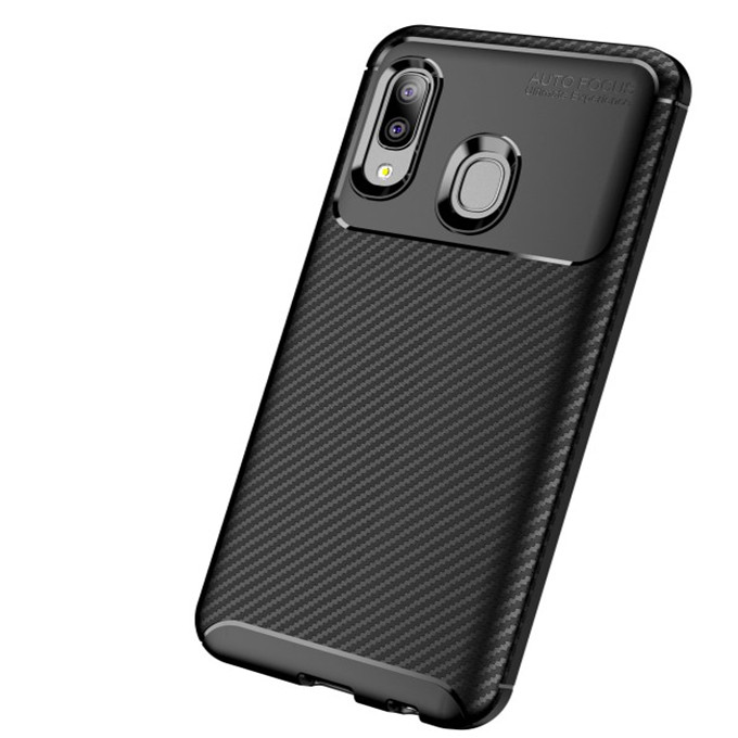 Lightweight Shockproof Beetle Carbon Fiber Phone Cover Case for Huawei Nova 5/Y6 Prime 2018/<strong>P</strong> smart Plus