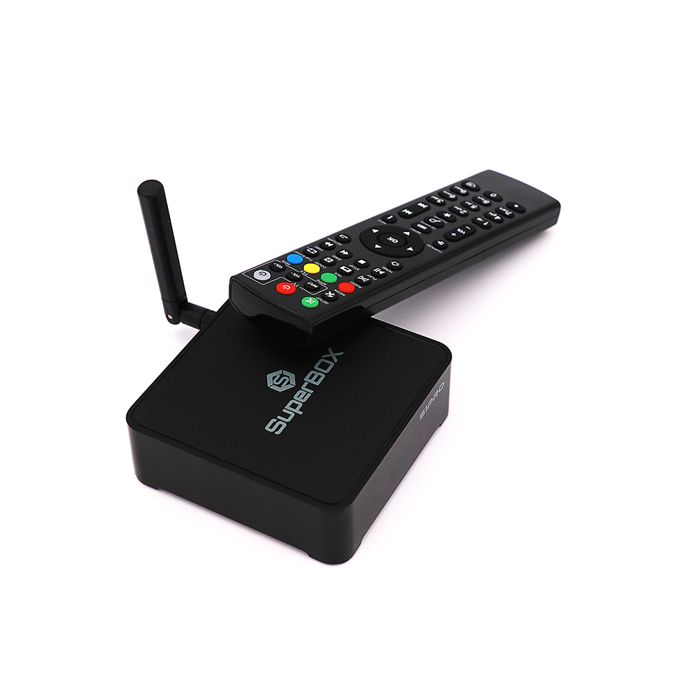 2020 Best Hot Selling English Streaming Iptv box Lifetime no subscription Superbox S1 Pro