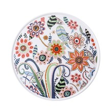 Butterfly Love Flower Series DIY202205 High Temperature Matte Glaze Ceramic Pizza Plate <strong>Flat</strong> Dish Home Party