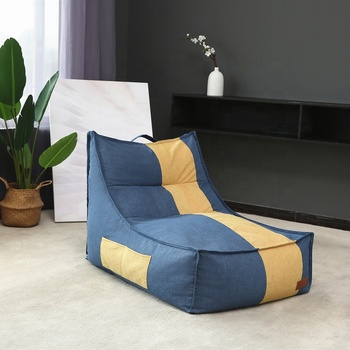 Home furniture general use lounge compressible foam bean bag poltrona