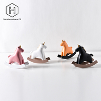Pure color Nordic creative unicorn rocking horse birthday gift decoration children's toy room decoration rocking horse