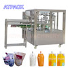 Automatic spout pouch filling and capping machine for medical liquid solid rotary type