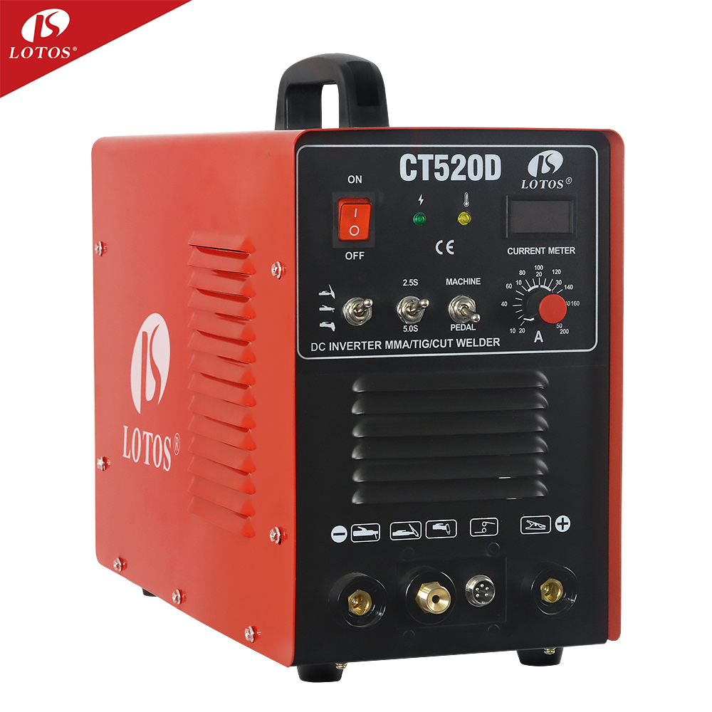 Lotos CT520D maquina para soldar <strong>welding</strong> machine 3 in 1 tig cut mma <strong>welding</strong> and cutting machine price hangzhou