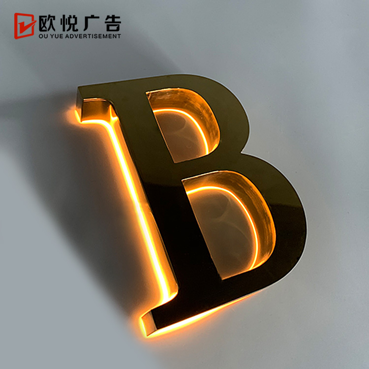 high quality customized 3d led letters backlit shop <strong>sign</strong>