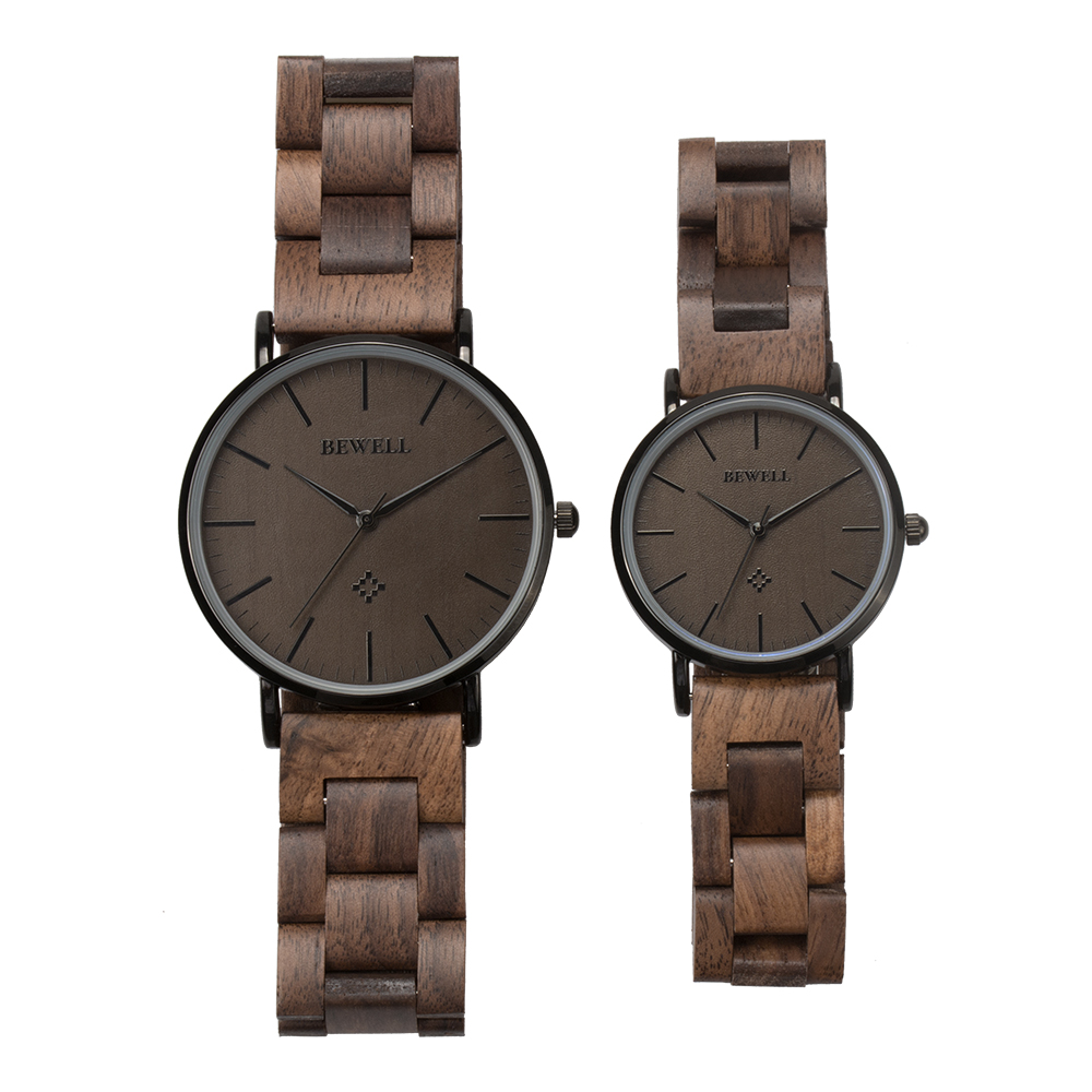 Bewell original factory miyota movement mens and ladies quartz wooden watch