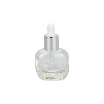 round shape 12ml clear glass dropper bottle essential oil sample little bottle glass with dropper