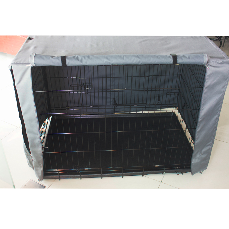 Lightweight 600D Polyester Indoor/Outdoor Durable Waterproof Pet Kennel Covers Dog Crate Cover for sale