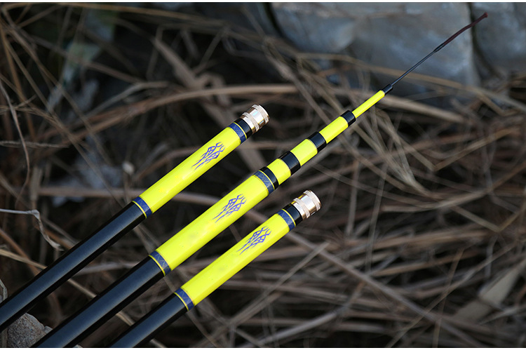 Carbon Fishing Rod 5m Yellow Rods for fishing Length adjustable