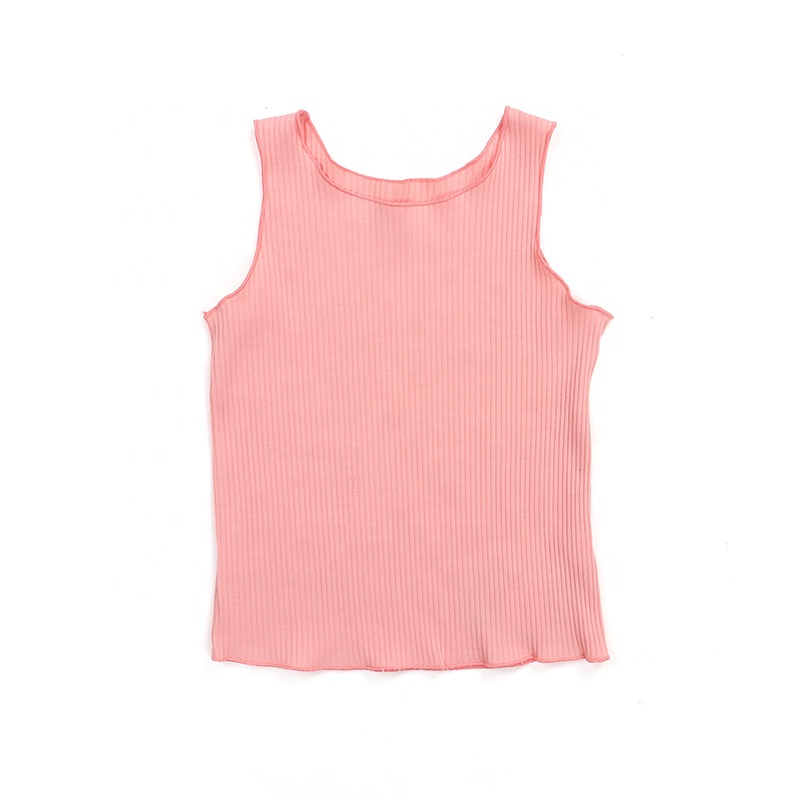 Wholesale new products solid color design sleeveless infant baby clothes kids outfit children sets clothing
